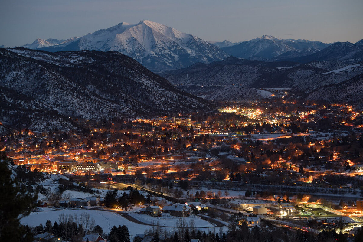 Glenwood Springs, Colorado in winter
