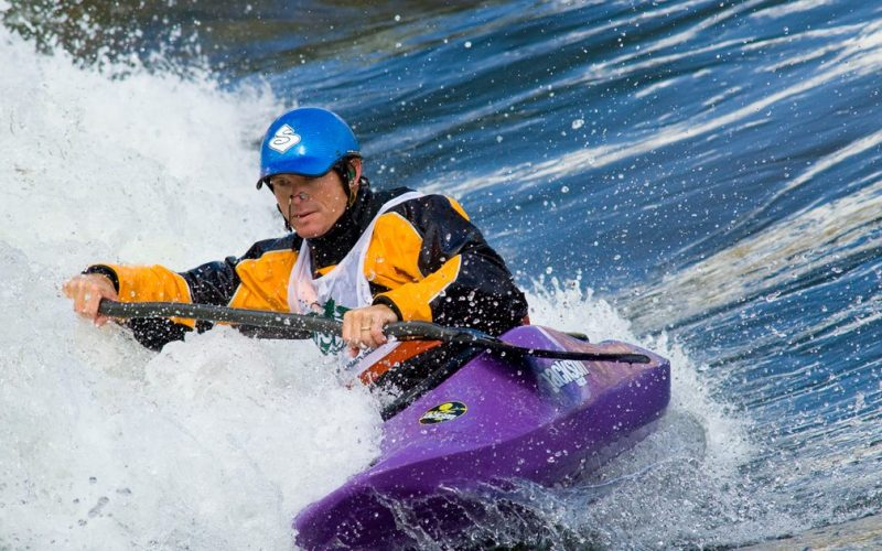 Kayaker at Glenwood Whitewater Park
