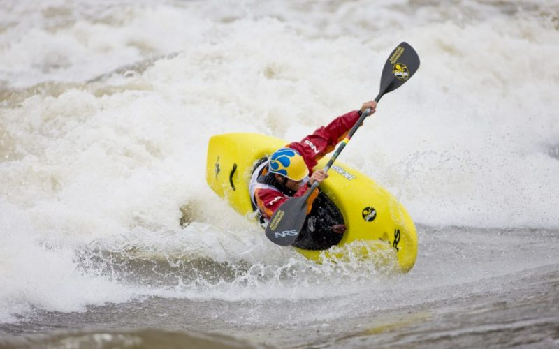 Kayaker in Glenwood Springs, Colorado