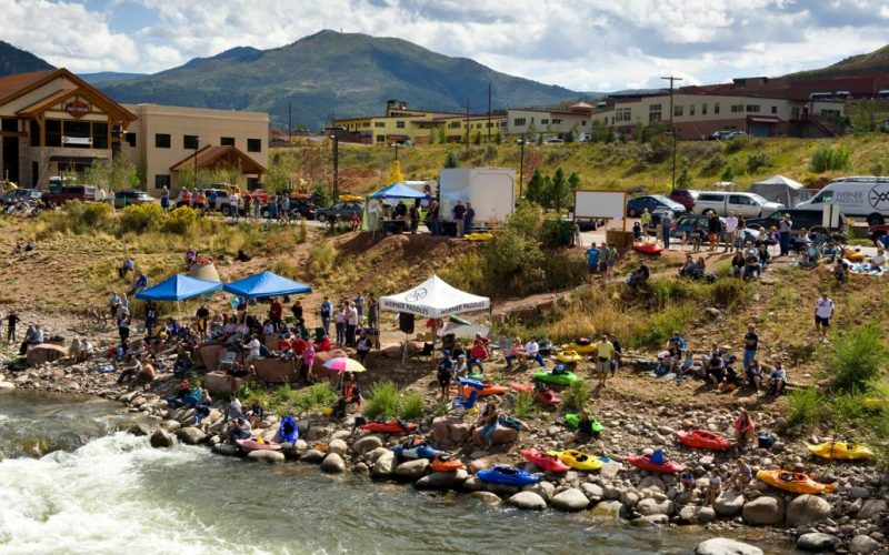 Glenwood Waterwater Park Spectator Area in 2009