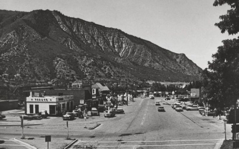 6th Street in 1950's Glenwood Springs