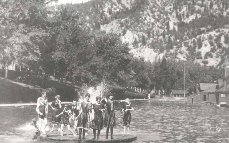 Swimmers at Glenwood Hot Springs Pool