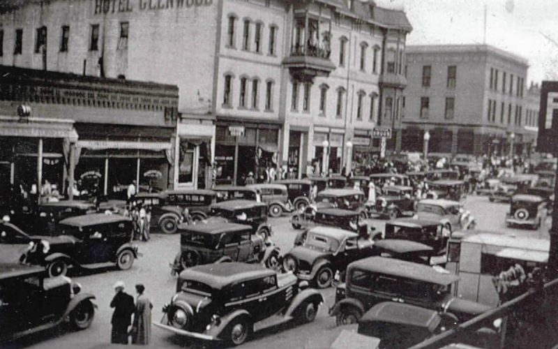 Glenwood Springs during Strawberry Days in the 1930's