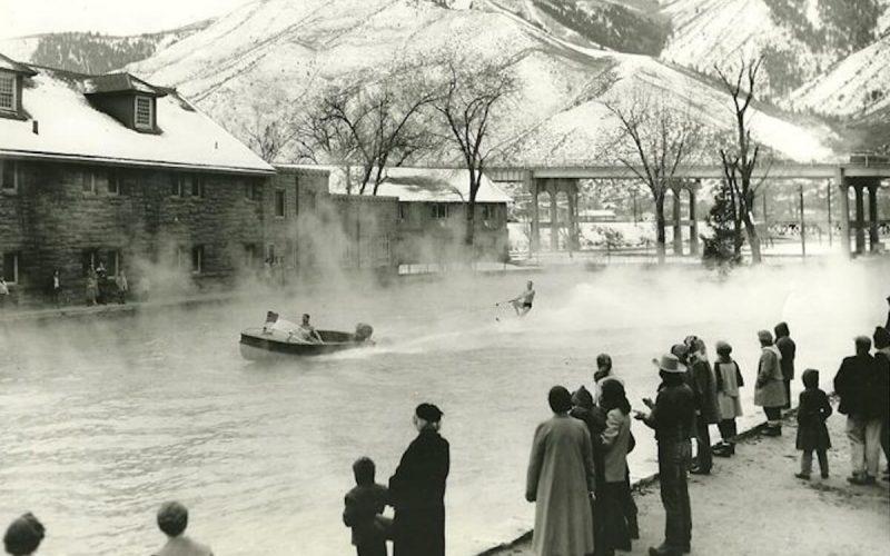 Water skiing at Glenwood Hot Springs Pool